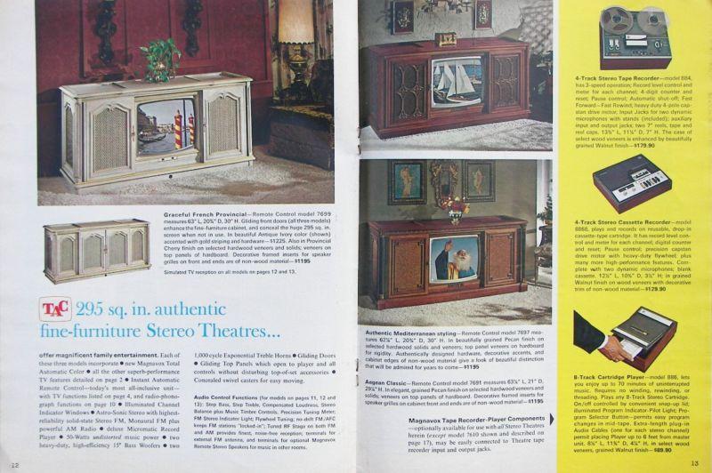 1968 Magnavox console stereo catalog