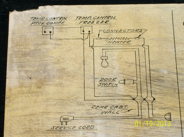 Vintage Refrigerator Wiring Diagram - Wiring Diagrams Hidden on