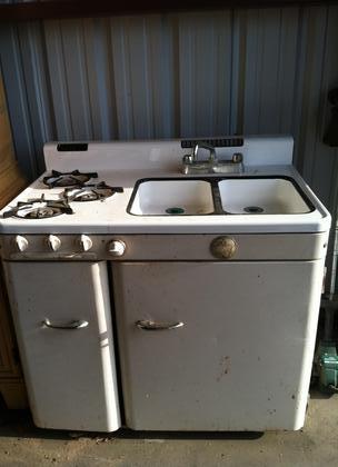 1950 Ge Stove Sink Oven Fridge Combo