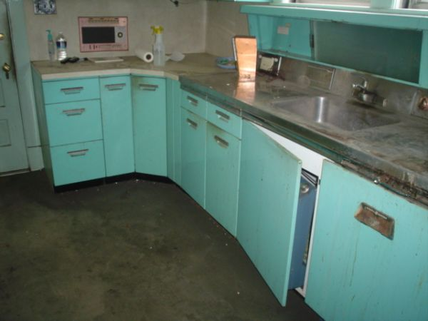Turquoise Ge Metal Kitchen Cabinets With Intercom And Cabinettes