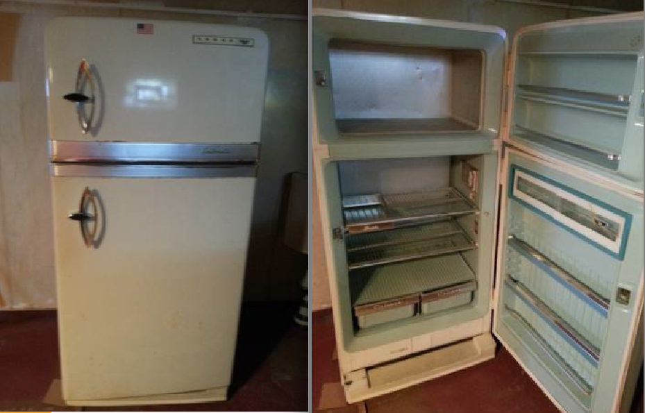 Antique Norge Refrigerator Early 50s