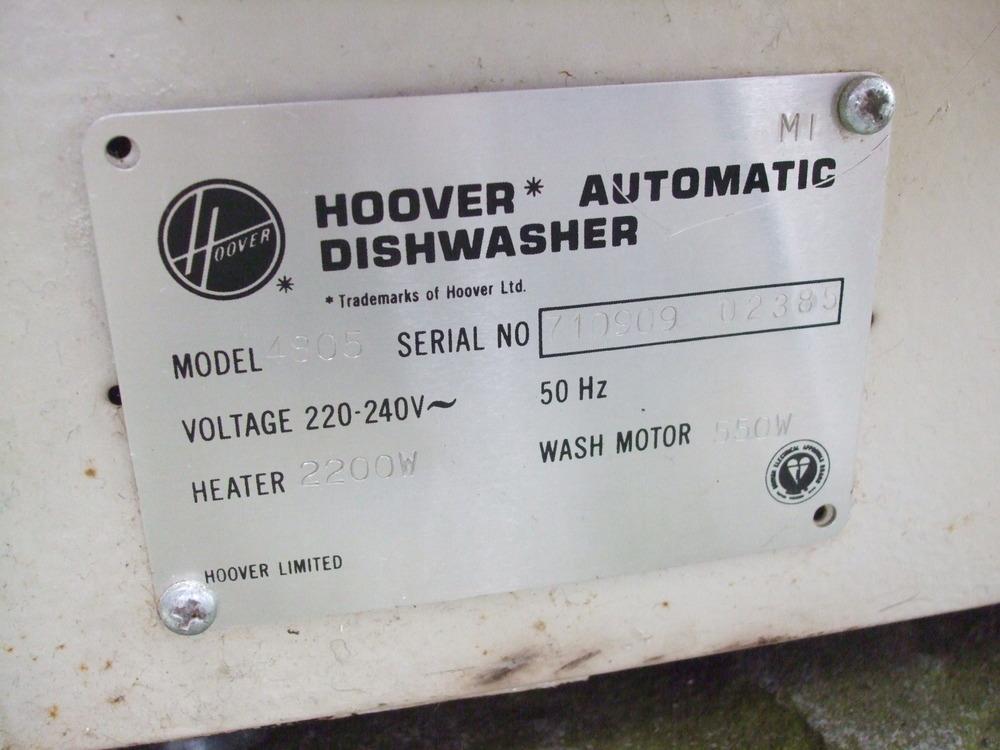 Hoover Serial Numbers